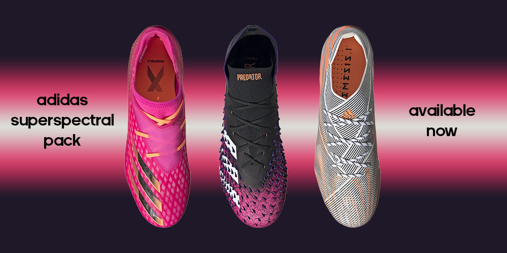 adidas Superspectral Pack of footwear at Soccer Center