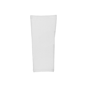 Compression shinguard sleeve white