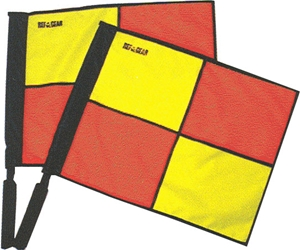 Deluxe linesmans swivel flags